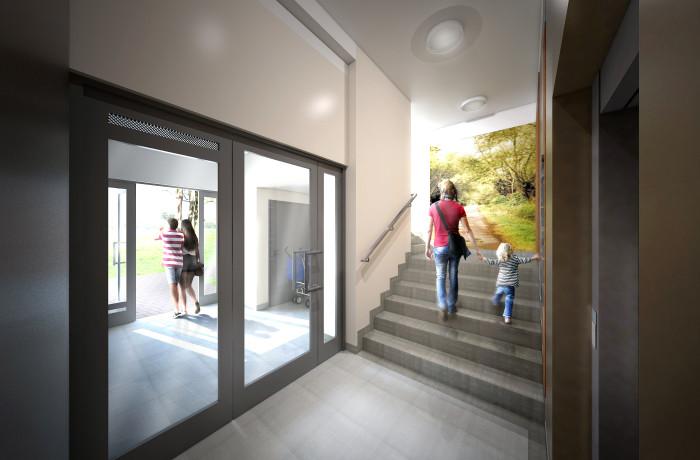 Wizualizacja klatki schodowej